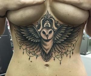 mandala, owl, and tattoo image