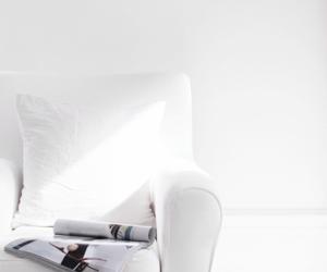 white, interior, and magazine image