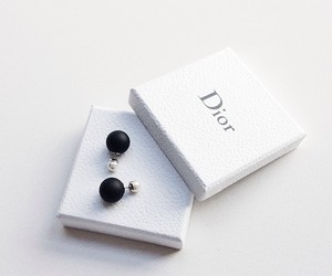 dior, earrings, and black image