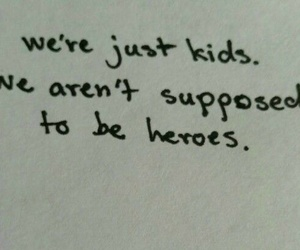 hero, quotes, and kids image
