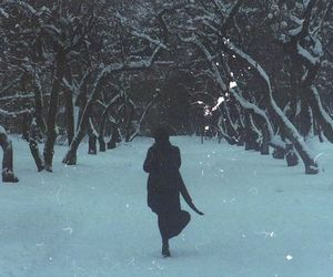 cold, girl, and light image