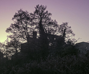 dawn, mansion, and ruin image