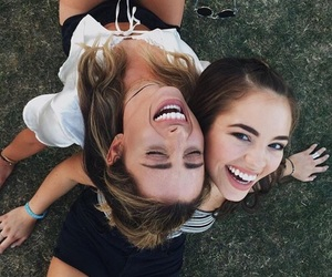 best friends, happy, and together image