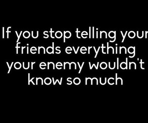 enemy, quotes, and friends image