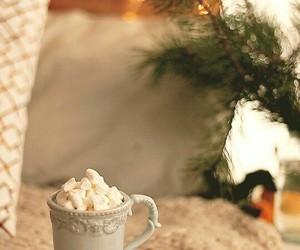coffee, snow, and light image