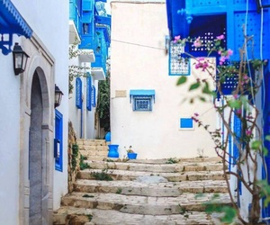 blue and travel image