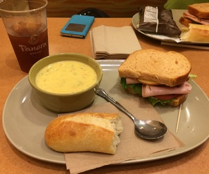 bread, lunch, and sandwich image