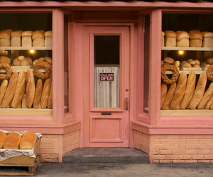 bread, cute, and pink image