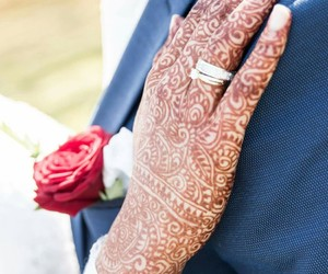 bride, couple, and henna image