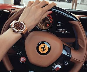 car, luxury, and ferrari image