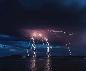 storm, lightning, and sky image