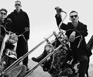 dave gahan, depeche mode, and andrew fletcher image