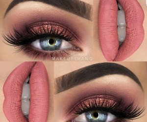 eyebrows, lips, and makeup image