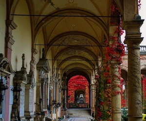 arcades, architecture, and automn image