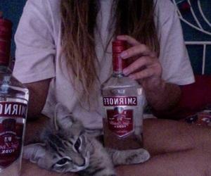 girl, alcohol, and grunge image