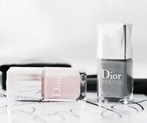 dior, pink, and nails image
