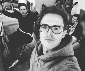 band, black and white, and danny jones image