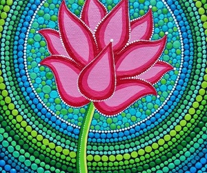 flower, lotus, and painting image