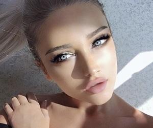 blue eyes, blonde, and hair image