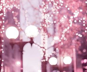 lights, pink, and pink lights image