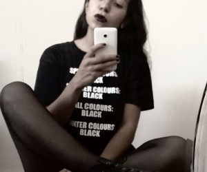 goth, blackpale, and t shirt image