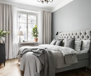 bed, bedroom, and cosy image