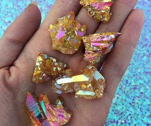 crystal, gold, and tumblr image