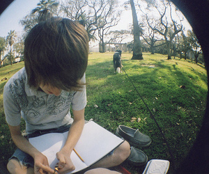boy and fisheye image