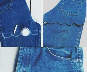 diy, jeans, and shorts image