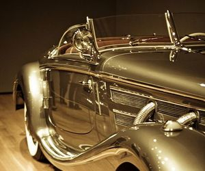 car, gold, and vintage image