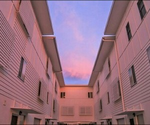 pink, sky, and aesthetic image