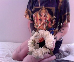 pale, flowers, and grunge image