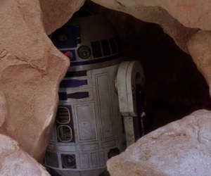 brown, r2d2, and rock image