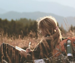 girl, nature, and travel image