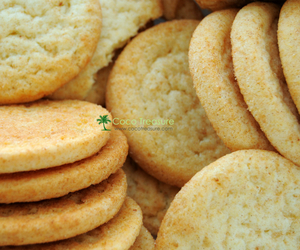 Cookies, coconut oil, and cookie recipe image