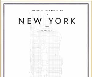 map, minimal, and new york image