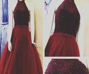 long prom dresses, burgundy prom dress, and prom party dresses image