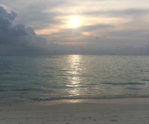 sky, beach, and beautiful image