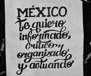lettering and méxico image
