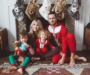boys, christmas, and father image