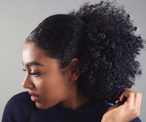 big hair, curly fro, and natural hair image
