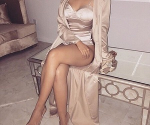 dress, perfect, and gold image