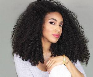 long hair, natural hair, and long curly hair image