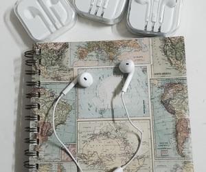 earphone, music, and typo image