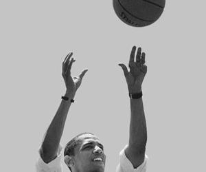 obama, president, and ball image