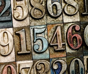 numbers, typography, and vintage image