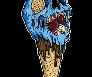 ice cream and skull image