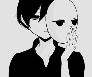 black and white, boy, and manga image
