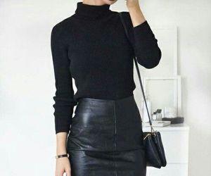 black, kfashion, and minimalistic fashion image