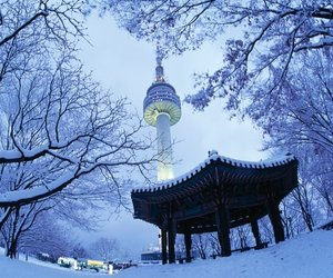 seoul, winter, and korea image
